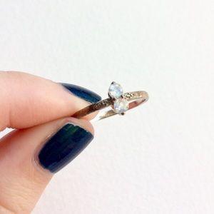 Moon Magic Petite Double Moonstone Silver Ring
